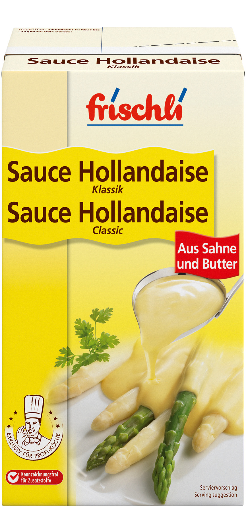 ... and food   Products   Sauce Hollandaise Classic with cream and butter